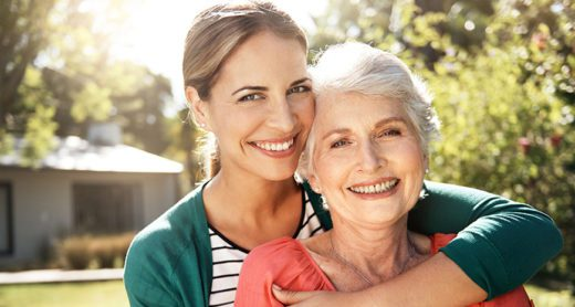 Senior retired lady happy with Long-Term Care Insurance